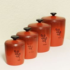 Vintage West Bend Canisters Tupperware Tea Canister Sets Kitchen