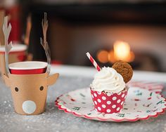 adorable reindeer cups