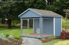 8'x10' Dog Kennel with 4'x8' Box and 6'x8' Run http://www.backyardunlimited.com/dog-kennels