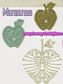 Appliques Au Crochet, Crochet Motifs, Freeform Crochet, Crochet Diagram, Crochet Stitches Patterns, Crochet Chart, Love Crochet, Crochet Gifts, Thread Crochet