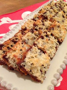 Magic Bars. I just love them!   My step daughter loves these. Yum