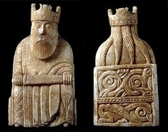 kingfrontback384x304.jpg (384×304) King, Chessmen from Isle of Lewis; dragon is bottom panel of back of throne. 12th century.