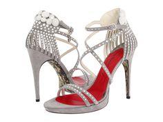 Cesare Paciotti High Heel Diamond Studded Platform Sandal