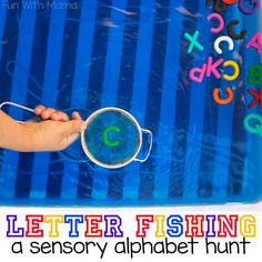 This alphabet letter activity is a fun addition to your letter crafts! Alphabet letter fishing is a sensory and hands on approach to teaching letters.