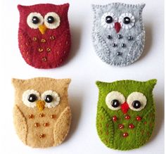 Owl Brooch Pin PDF Pattern This is a downloadable PDF sewing pattern and tutorial to make a very cute owl brooch pin from felt, which is quick and easy to sew and fun too! This delightful little owl is only 2 inches tall and when finished, will happily perch on your coat, jumper, scarf