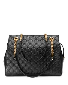 Gucci Signature Chain-Handle Tote Bag by Gucci at Neiman Marcus.