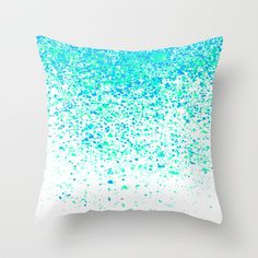 sparkling mint Throw Pillow by Marianna Tankelevich from Saved to bedroom. Bedroom Themes, Girls Bedroom, Bedroom Decor, Bedroom Ideas, Bedrooms, My New Room, My Room, Cute Pillows, Throw Pillows