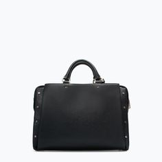 STUDDED OFFICE CITY BAG from Zara
