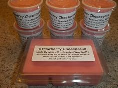 Strawberry Cheesecake Scented Wax Melts, Scent Cubes, Made By Missy M, Scent…