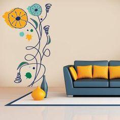 Los vinilos decorativos son adhesivos para superficies lisas o de escasa rugosidad, prueba aquellos de #flores y #naturaleza para crear un ambiente fresco. #Casa #Decoración