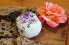violas & herbs on cheese~