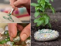 decorative garden stones painting