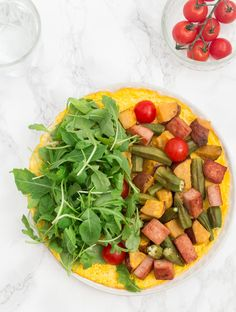 Open- Faced Omelette with Sweet Potato, Okra and Spam  *** this make for a great brunch*** | Recipes From A Pantry