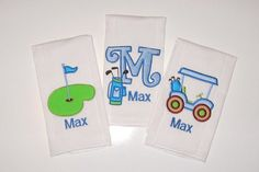 This listing is for one burp cloth  **************************************************  Choose from different golf designs.