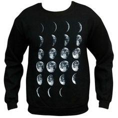 """""""moon phases"""" sweatshirt"""