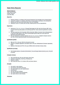 resume examples data entry and get the job on pinterest