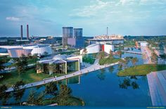 This is Autostadt, a visitor attraction adjacent to the Volkswagen factory in Wolfsburg, Germany.