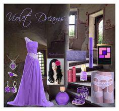"""Violet Dreams"" by nathajimenez on Polyvore featuring moda, Casadei, Wet n Wild, Fresh, Estée Lauder, Mavala, Gemvara, StyleRocks, Miadora y Yves Saint Laurent"