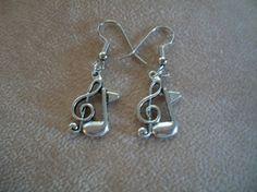 Music Notes Earrings by Brendas Beading on Etsy by BrendasBeading, $8.99