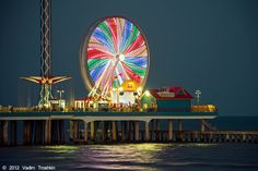 Galveston, Tx - The New Boardwalk is on the pier where the Flagship Hotel was as long as I can remember. Looks like fun!