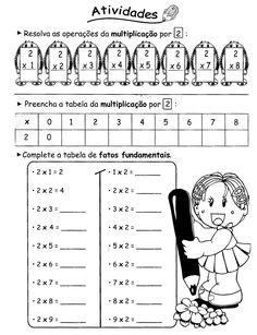 37 Atividades Educativas de Multiplicação 37 Atividades Educativas de Multiplicação para 2º e 3º ano do Ensino Fundamental 1. Atividades de matemática para imprimir. Atividades de multiplicação. Tabuada, cruzadinhas, caça-produtos, e muito mais.... Addition Worksheets, School Frame, Kindergarten Math Worksheets, Math For Kids, Home Schooling, Scandal Abc, Multiplication, Math Subtraction, Second Grade