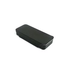 classical black color metal mint tin case with sliding lid