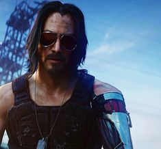 Keanu Reeves in Cyberpunk 2077 Cyberpunk Anime, Cyberpunk 2020, Cyberpunk Character, Cyberpunk Art, Keanu Reeves John Wick, Keanu Charles Reeves, Cd Project Red, Keanu Reeves Quotes, Happy Birthday Wishes Images