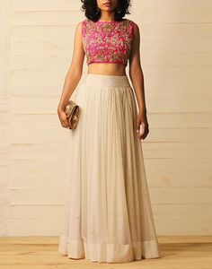 Youdesign Georgette Lehenga Choli In Cream Colour Size Upto 66 The Stylish And Elegant Lehenga Choli In Cream Colour Looks Stunning And Gorgeous With Trendy And Fashionable Fabric Looks Extremely Attractive And Can Add Charm To Any Occasion. Lehenga Crop Top, Lehenga Blouse, Red Lehenga, Bridal Lehenga, Simple Lehenga Choli, Jacket Lehenga, Indian Gowns, Indian Attire, Patiala Salwar