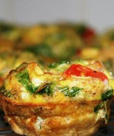 Scrambled Egg Muffin: made it with egg whites, turkey bacon, spinach, tomato,and cheese...easy snack or go to breakfast when running late