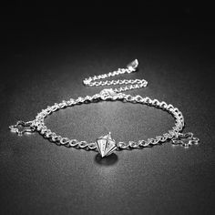 fashionbeautybuy Women Hollow Out Ankle Bracelet Silver Plated Jewelry Barefoot Sandal Beach Foot Chain