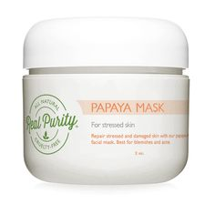 Use this mask for Skin Balancing. This enzyme Soft Mask is rich with potent (Papaya) Enzyme for a natural exfoliation method that leaves your skin glowing and radiant. Exfoliates dead and damaged skin cells while revealing a he