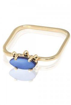 Sabrina Dehoff Ring mit blauem Perlmuttstein auf shopstyle.de