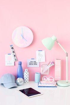 Learn how to make a holographic clock with this easy home decor DIY project.