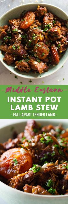 This Instant Pot lamb stew is a beautiful blend of sweet, savory and citrus flavors. Pair it with a light salad and some crusty bread and you have an easy and impressive meal for any night of the week. Healthy Meats, Healthy Meat Recipes, Healthy Cooking, Beef Recipes, Vegetarian Recipes, Chicken Recipes, Cooking Recipes, Appetizer Recipes, Dinner Recipes