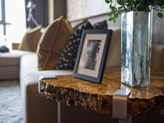 Custom built side tables fashioned from locally-sourced lumber yards (designed by local craftsman, Jamie Cumming).  #HGTVUrbanOasis  http://www.hgtv.com/urban-oasis/hgtv-urban-oasis-2013-living-room-pictures/pictures/page-8.html?soc=pinterest