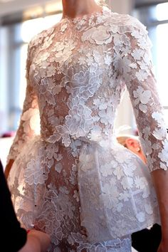 a modern take on lace | Ralph & Russo Haute Couture Spring 2016 | image via…