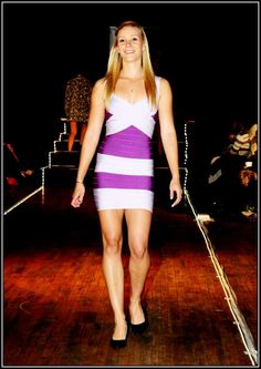 Purple and lilac bandage dress - R800