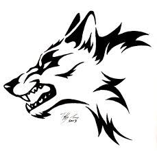 Image result for how to draw a wolf face
