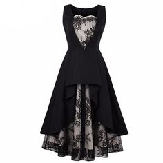 Elegant Dark Gothics Dress - BLACK RABBIT GOTHIC FASHION
