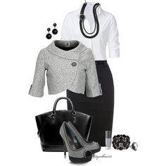 nice Women's Fashionista: Spring outfits for women Komplette Outfits, Spring Outfits, Casual Outfits, Fashion Outfits, Womens Fashion, Fashion Trends, Fashion Heels, Skirt Outfits, Dress Fashion