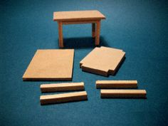 Maquetas, muebles en escala, juguetes de madera - NOVEDADES