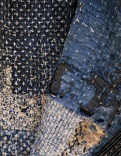 cityzenart: Awaji Island (Japan) Fisherman's Coats. Shasiko stitched and mended.