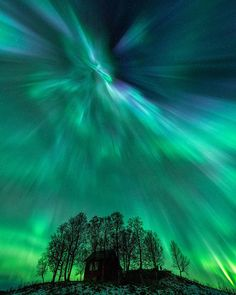 On the night of Oct. 8 a photographer in Harstad Norway captured this image of the dancing northern lights. Auroras are created when fast-moving magnetic solar material strikes Earth's magnetic bubble the magnetosphere. This collision rattles the magnetosphere in an event called a geomagnetic storm sending trapped charged particles zooming down magnetic field lines towards the atmosphere where they collide brilliantly with molecules in the air creating auroras.  Though many geomagnetic…