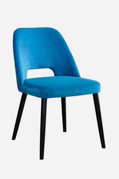 Vintage design chair with velvet upholstery