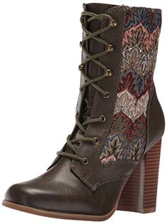 Dolce by Mojo Moxy Women's Firebird Ankle Bootie, Army,-$79.95