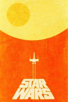 That's no moon. Star Wars retro poster design                                                                                                                                                                                 More