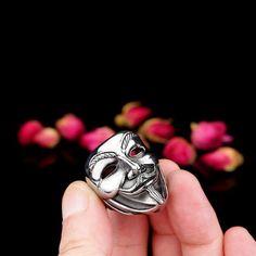 Stainless Steel Ring New V for Vendetta V Mask Ring Jewelry