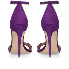 4b9db84f07f9 Glimmer Purple High Heel Sandals (545 PEN) ❤ liked on Polyvore featuring  shoes