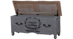 Love this Provence Blanket Chest - could also be used as a clever place to stash kids toys out of sight in the lounge! Rustic French, French Country, French Furniture, Painted Furniture, Country Blankets, Trunks And Chests, Blanket Chest, Sugar And Spice, Hope Chest
