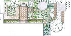 Classic Formal Garden in Houghton Garden Design Plans, Patio Design, Garden Planning, Vintage World Maps, Backyard, How To Plan, Formal, Classic, Preppy